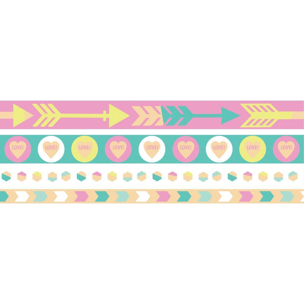 We R Washi Tape Rolls 4 pack - Pastel