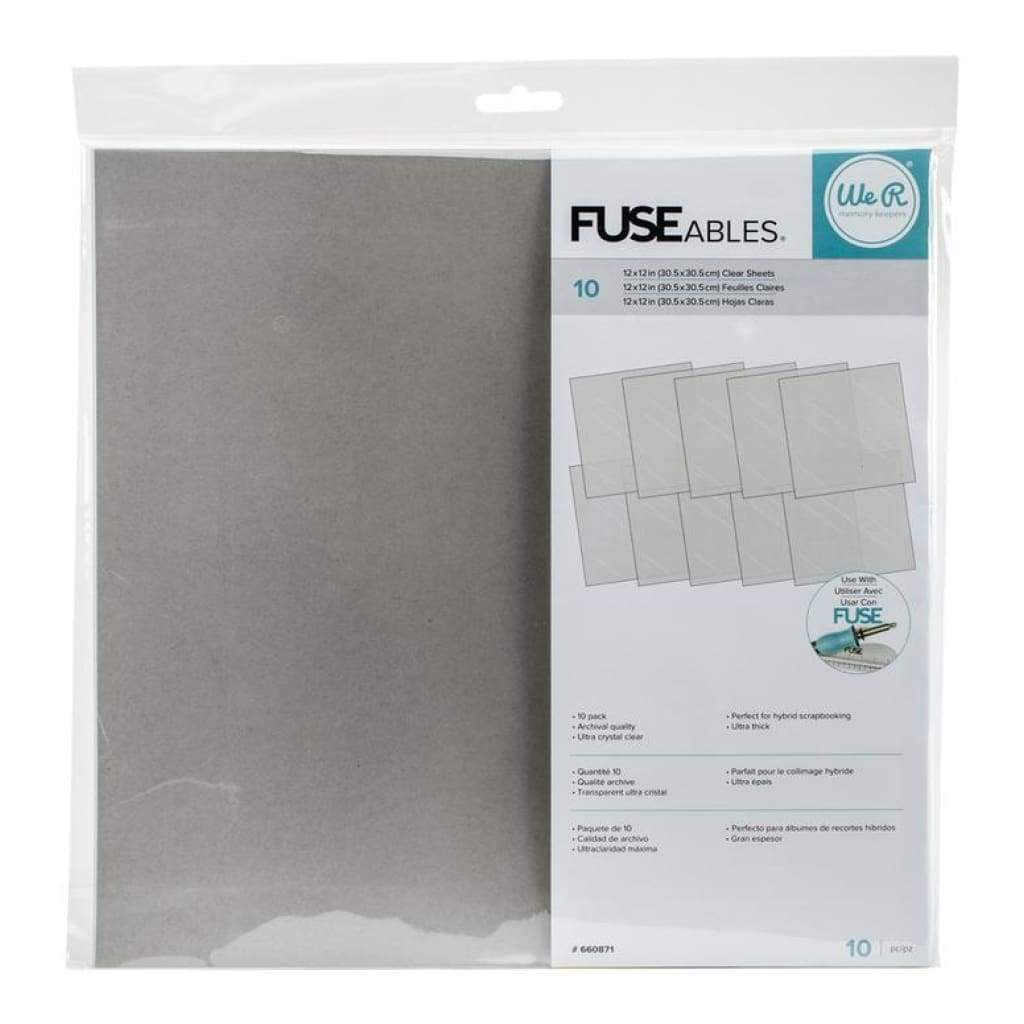 Wrmk - Fuseables Clear Sheets 12X12 Inch (10 Pk)