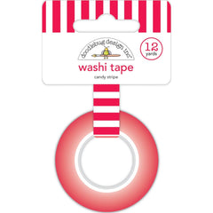 Doodlebug - Washi Tape 15mmX12yd - Candy Stripe, Christmas Magic