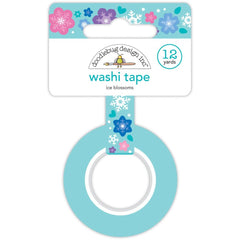 Doodlebug Washi Tape 15mmX12yd - Ice Blossoms, Winter Wonderland