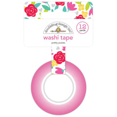 Doodlebug Washi Tape 15mmX12yd - Pretty Posies, Love Notes
