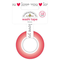 Doodlebug Washi Tape 15mmX12yd - Love You, Love Notes