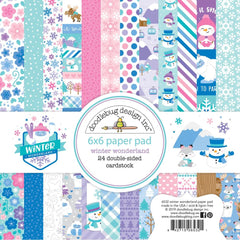 Doodlebug Double-Sided Paper Pad 6in x 6in 24 pack - Winter Wonderland, 12 Designs/2 Each