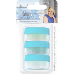 Sara Davies Signature Embossing Powder 3 pack Winter Wonderland
