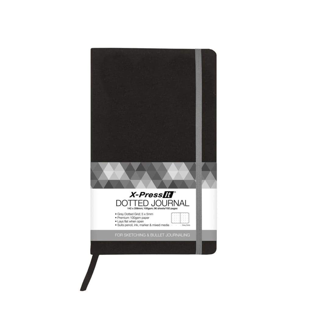 X-Press It - A5 / 192pg Dotted Journal - Black