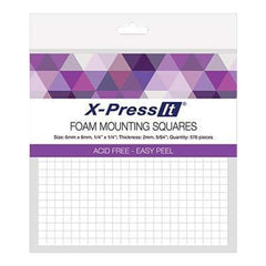 X-Press It Foam Mounting Squares 6X6mm 576 Pieces