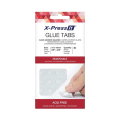 X-Press It - Glue Tabs 10 x 10mm 80pcs Removeable