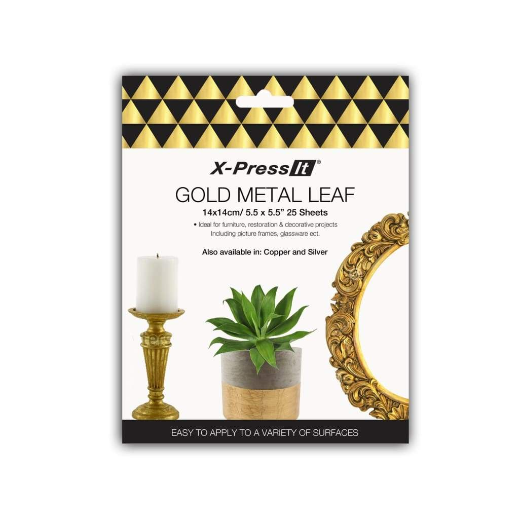 X-Press It Gold Metal Leaf 140x140 25sh/bk