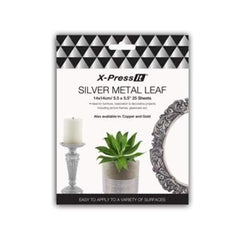 X-Press It Silver Metal Leaf 140x140 25 sh/bk