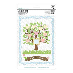 Xcut A5 Dies 15 Pack  Family Tree