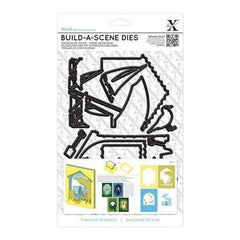 Xcut Build-A-Scene Dies 8 Pack  Shadow Box Seaside