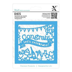 Xcut Decorative Die Congratulations Topper