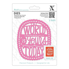 Xcut Decorative Dies 2 pack The World Is Yours Today