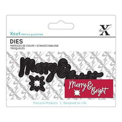 Xcut Mini Decorative Dies 4 Pack Merry & Bright Sentiment