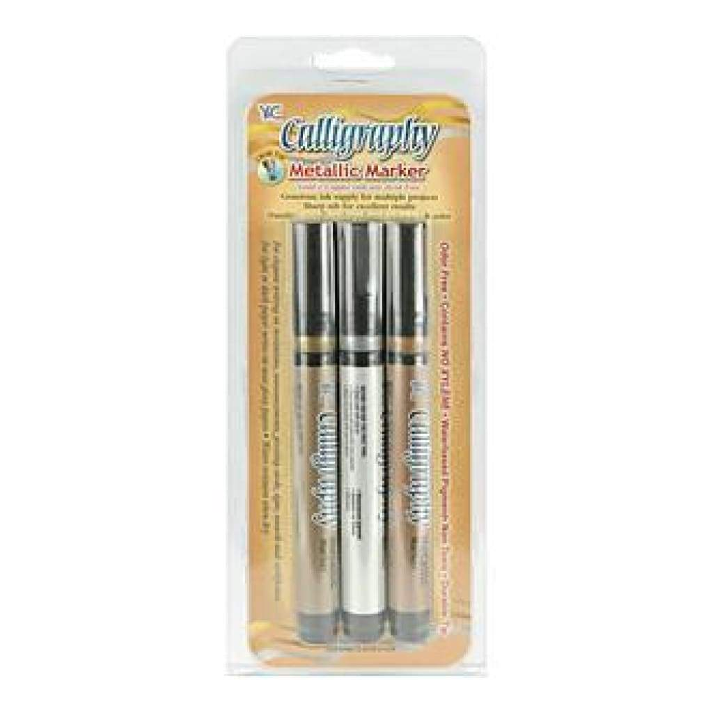 Yasutomo - Calligraphy Metallic Markers 2Mm 3 Pack