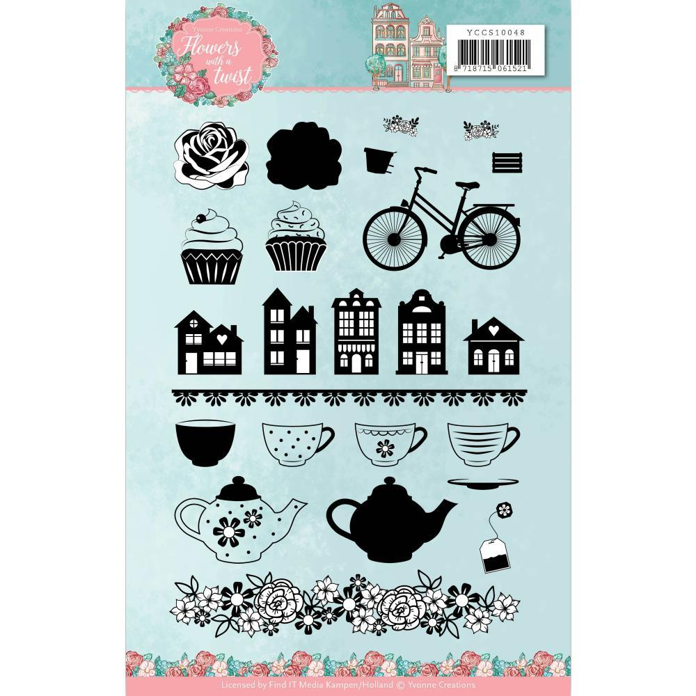 Find It Trading Yvonne Creations Clear Stamps - Flowers With A Twist