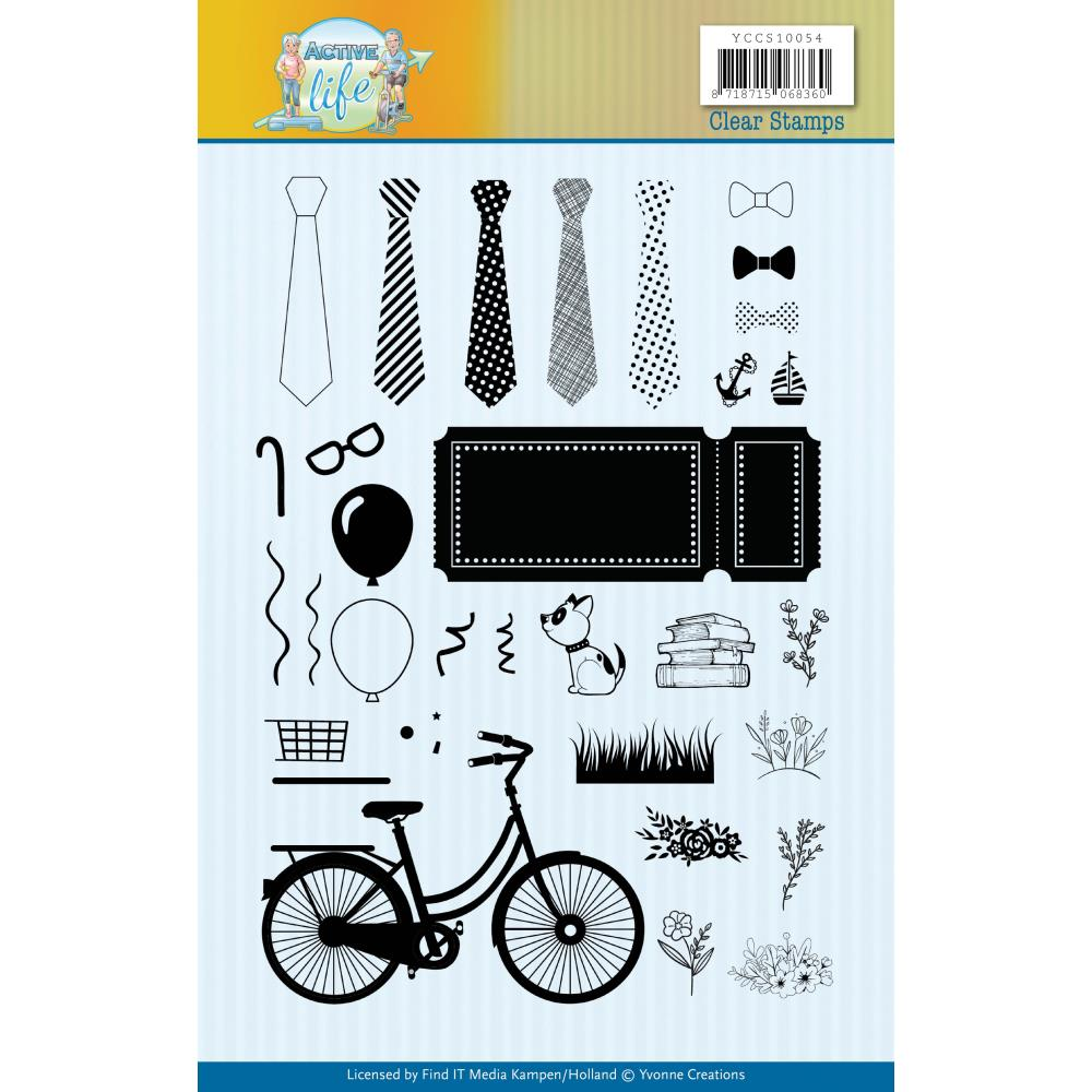 Find It Trading Yvonne Creations Clear Stamps - Active Life