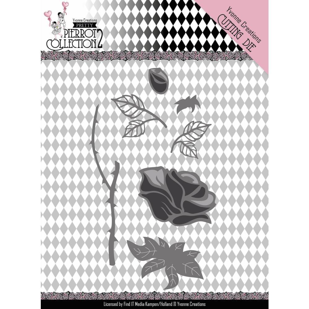 Find It Trading Yvonne Creations Pretty Pierrot 2 Die Rose