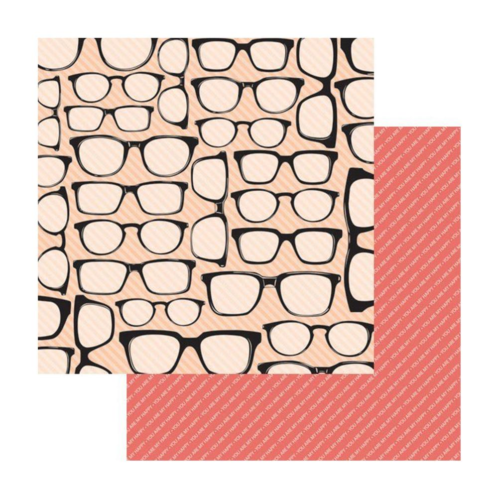Teresa Collins Designs - You Are My Happy Collection - 12 x 12 Double Sided Paper - Spectacles
