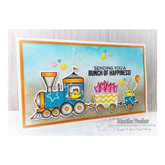 Your Next Stamp Die All Aboard Train Carts
