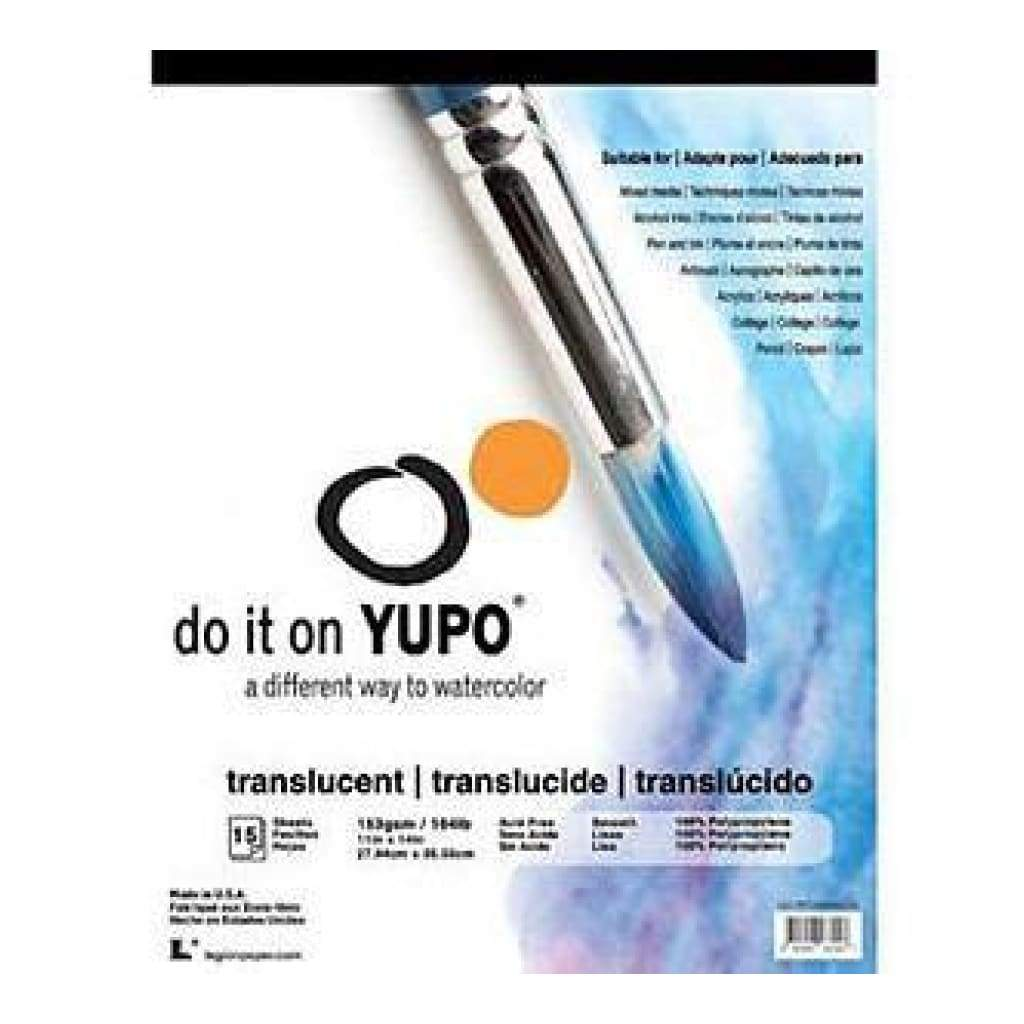 Yupo Paper 11In. X14in.  15 Sheets Pack  Translucent 104Lb