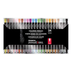 Zebra Zensations Colored Pencils 24 pack Assorted