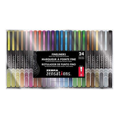 Zebra Zensations Fineliner Pens 24 pack 0.8mm Assorted