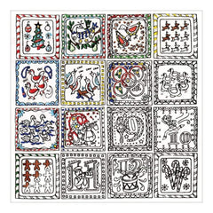 Zenbroidery Stamped Embroidery 10 inch X10 inch Twelve Days Of Christmas