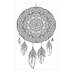 Zenbroidery Stamped Embroidery 10 inch X16 inch Dream Catcher