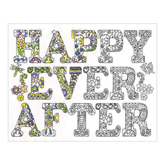 Zenbroidery Stamped Embroidery 12 inch X12 inch Happily Ever After