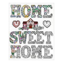 Zenbroidery Stamped Embroidery 12 inch X12 inch Home Sweet Home