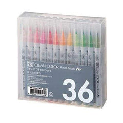Zig Clean Color Real Brush Markers 36 Pack