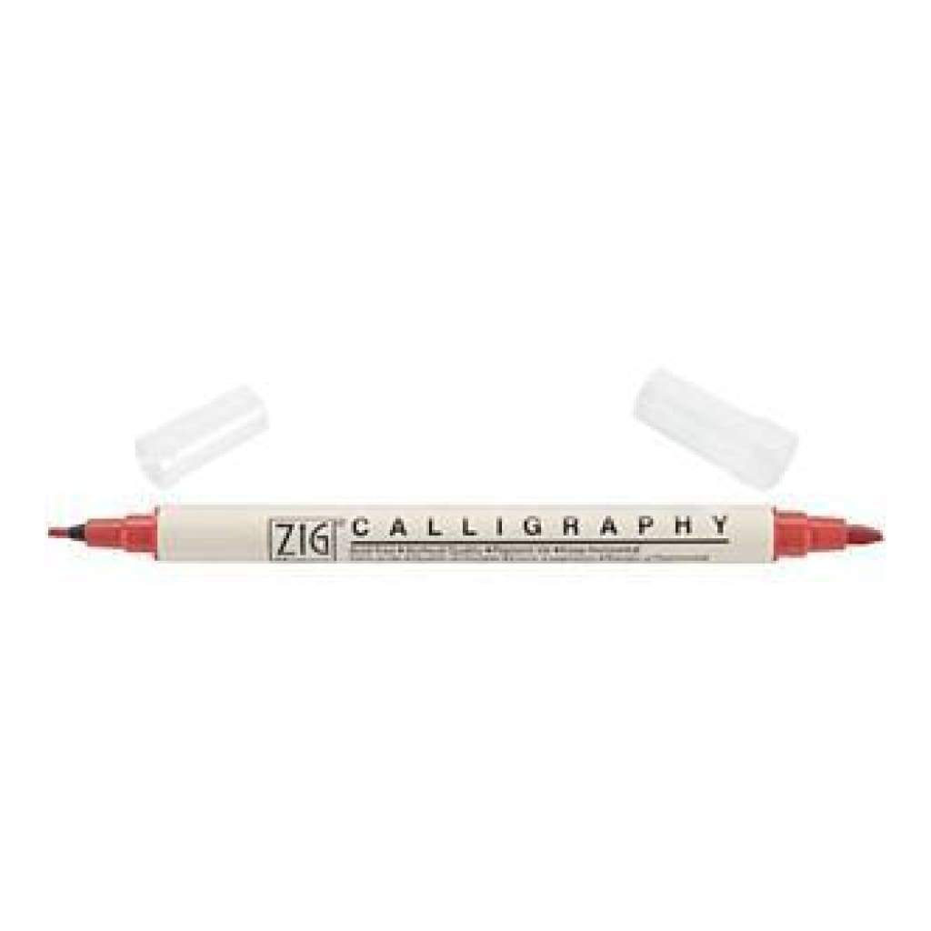 Zig Memory System Calligraphy Dual-Tip Marker Pure Red