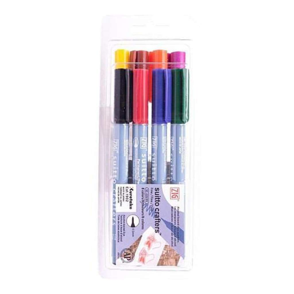 Zig Suitto Crafters Marker Set 8 Pack  Fine