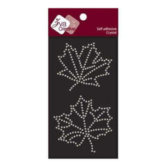 Zva Creative - Maple Leaves Crystal - Clear