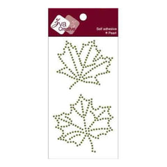 Zva Creative - Maple Leaves Pearl & Crystal - Olive