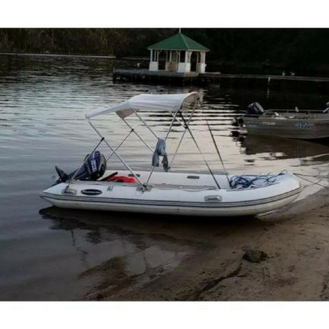 Searano Aluminium Hull 390 Rigid Inflatable RIB Dinghy - 3.9m - Searano - Air Kayaks Direct