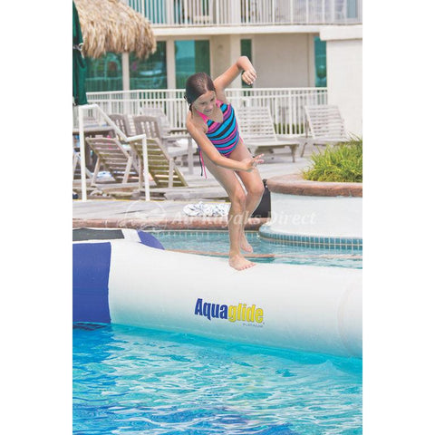 Aquaglide Foxtrot Balancing Log Inflatable Obstacle for Waterparks