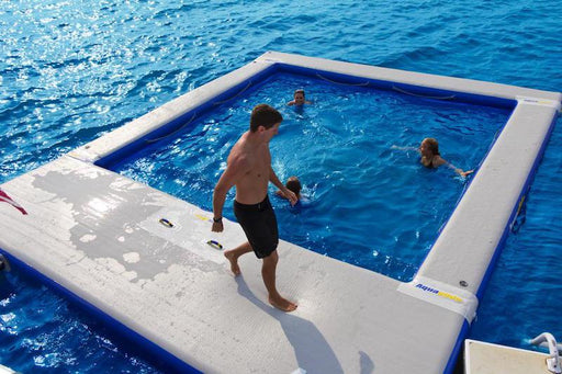 Aquaglide Inflatable Floating Ocean Pool™ 5m Dock Platform - 5m x 6m - Air Kayaks Direct