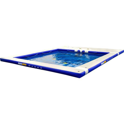 Aquaglide Inflatable Floating Ocean Pool™ 5m Dock Platform - 5m x 6m - Aquaglide - Air Kayaks Direct