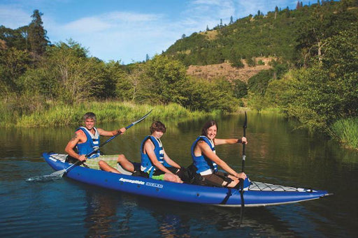 Aquaglide Chelan 155 HB Tandem XL 1-3 Person Touring Inflatable Kayak - Air Kayaks Direct