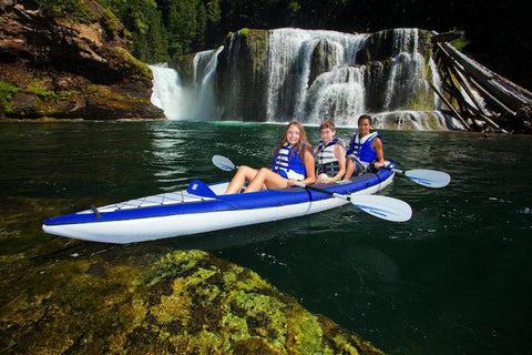Aquaglide Columbia™ XP Tandem XL 3 Person Inflatable Kayak