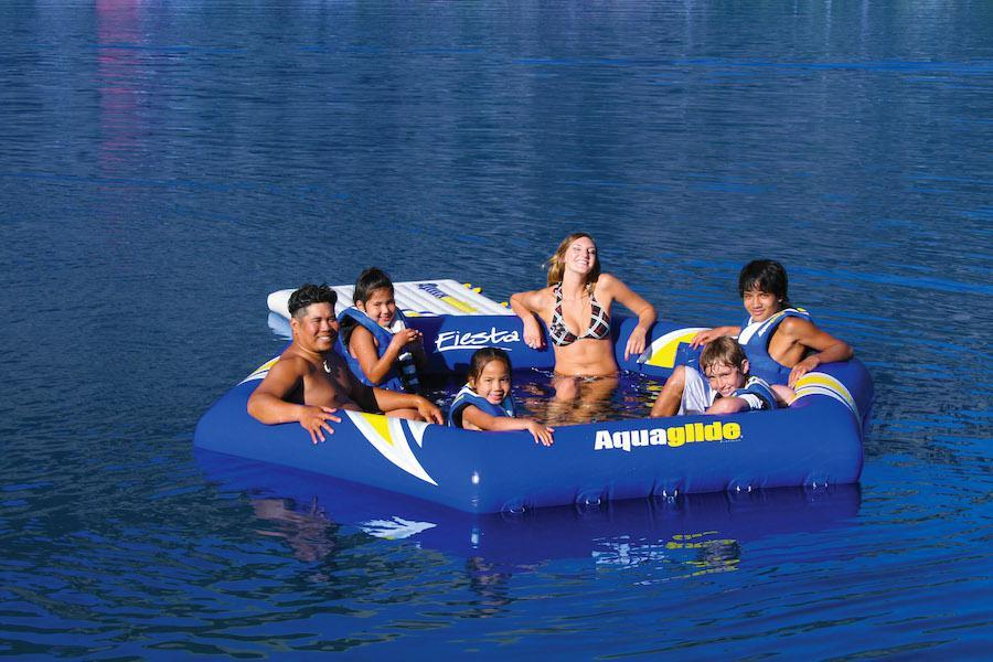 Aquaglide Fiesta™ Inflatable Water Lounge - Aquaglide - Air Kayaks Direct
