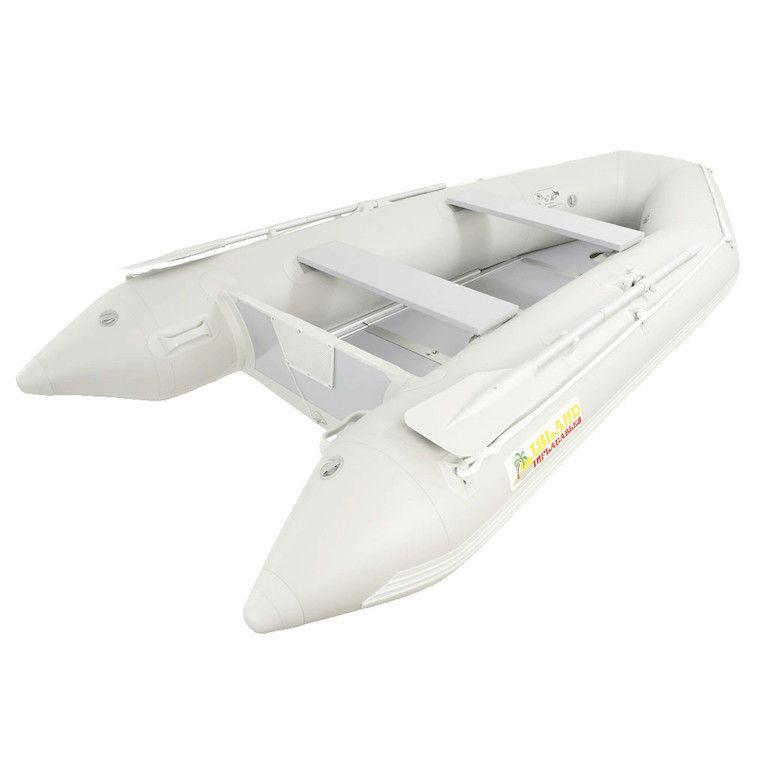 Island Inflatables Premium Inflatable Dinghy Boat - Wood Floor 3.3m - Air Kayaks Direct