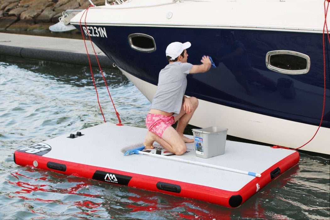 Aqua Marina Inflatable Island Boat Air Dock Platform - 2.5m x 1.6m - Aqua Marina - Air Kayaks Direct