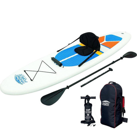 Bestway Hydro-Force 10ft Inflatable SUP Dual Kayak + Paddle