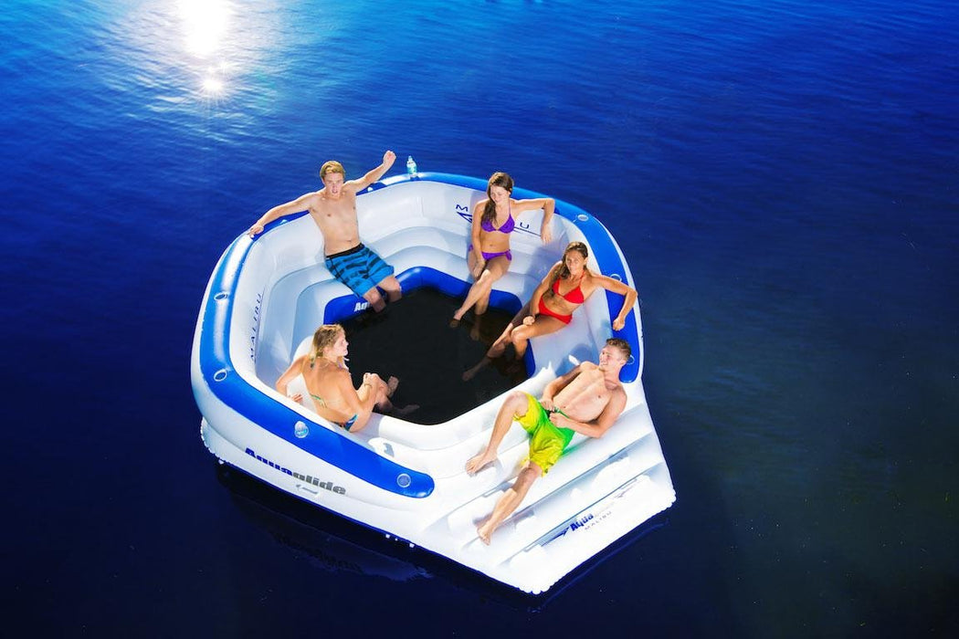 Malibu Lounger: XL Party Lounge Platform w/11 Cup Holders & Back Rest - Air Kayaks Direct