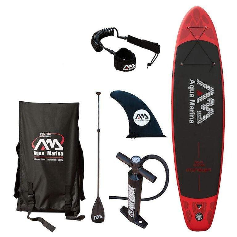 Aqua Marina Monster 12ft Inflatable SUP Deluxe Package - 3.7m - Air Kayaks Direct