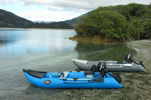 Nifty Boat Inflatable Fishing Dinghy Boat - 3.65m Sky Blue