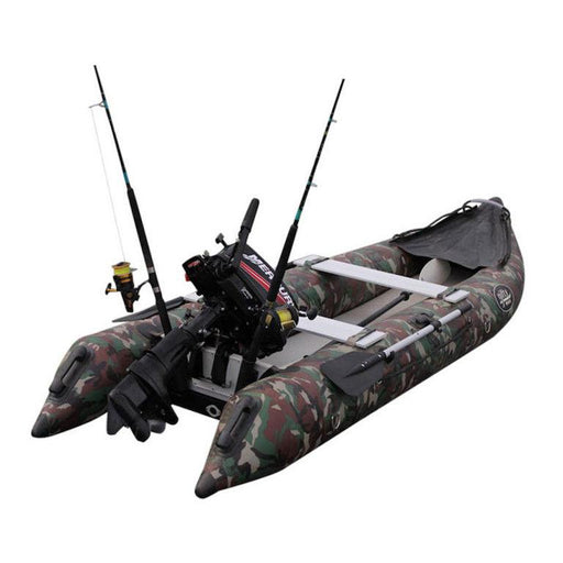 Nifty Boat Inflatable Fishing Dinghy Boat - 3.65m Camo - Air Kayaks Direct